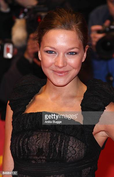 Actress Hannah Herzsprung attends The Reader premiere during the 59th Berlin International Film Festival at the Berlinale Palast on February 6 2009...