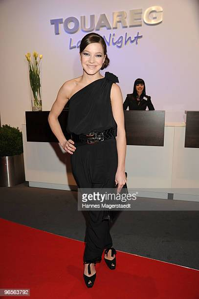 Actress Hannah Herzsprung attends the Touareg World Premiere at the Postpalast on February 10 2010 in Munich Germany