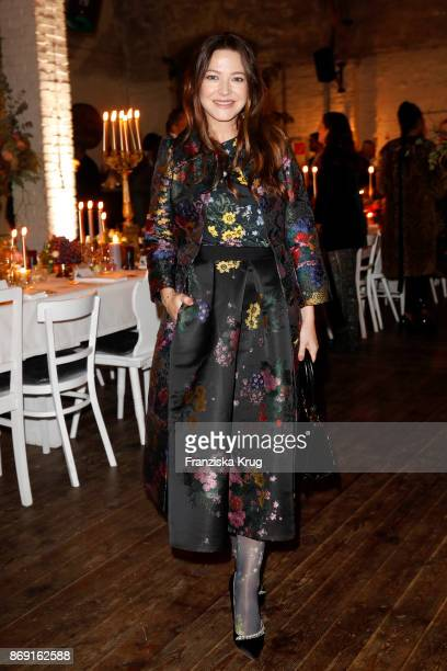 Actress Hannah Herzsprung wearing ERDEM X HM attends the ERDEM x HM PreShopping Event on November 1 2017 in Berlin Germany
