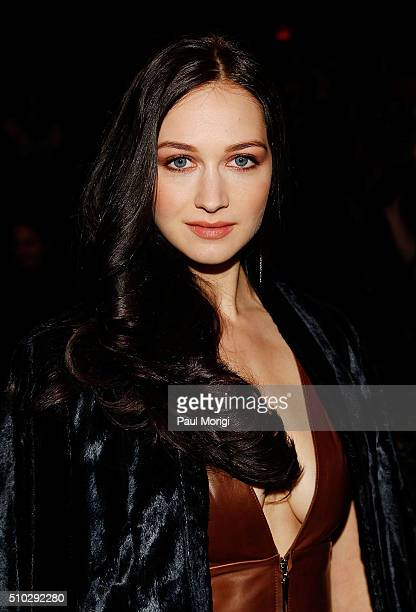 Actress Hannah James attends the Prabal Gurung Fall 2016 fashion show during New York Fashion Week: The Shows at The Arc, Skylight at Moynihan...