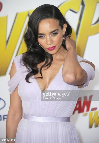 Actress Hannah JohnKamen arrives for the Premiere Of Disney And Marvel's 'AntMan And The Wasp' held at the El Capitan Theater on June 25 2018 in...