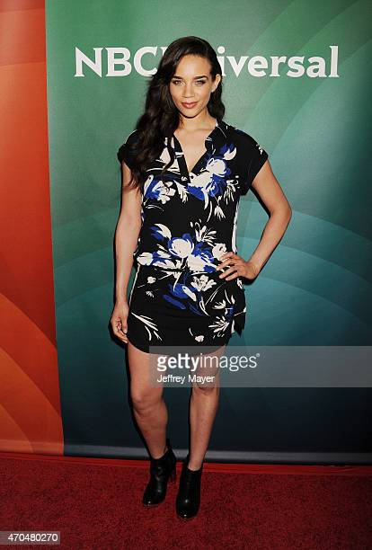 Actress Hannah JohnKamen attends the 2015 NBCUniversal Summer Press Day held at the The Langham Huntington Hotel and Spa on April 02 2015 in Pasadena...