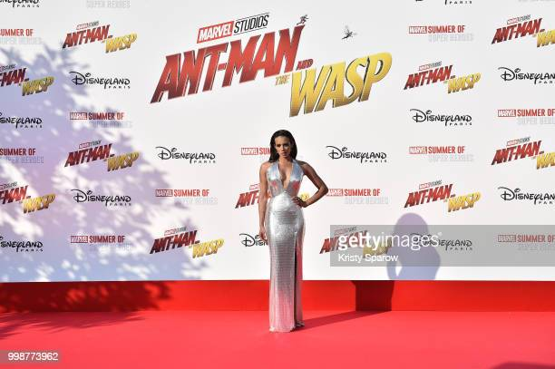 Actress Hannah JohnKamen attends the European Premiere of Marvel Studios 'AntMan And The Wasp' at Disneyland Paris on July 14 2018 in Paris France