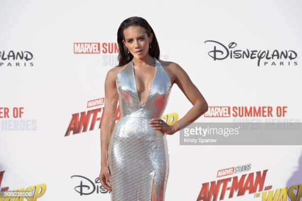 Actress Hannah JohnKamen attends the European Premiere of Marvel Studios AntMan And The Wasp at Disneyland Paris on July 14 2018 in Paris France