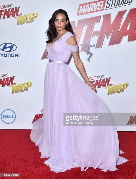 Actress Hannah JohnKamen attends the premiere of Disney and Marvel's 'AntMan and the Wasp' at El Capitan Theatre on June 25 2018 in Hollywood...
