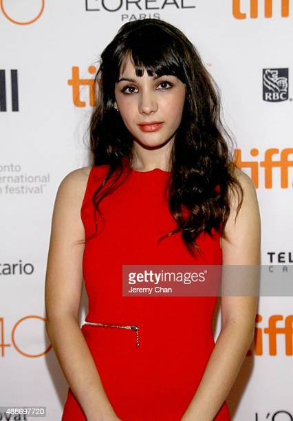 Actress Hannah Marks attends the Southbound photo call during the 2015 Toronto International Film Festival at Ryerson Theatre on September 16 2015 in...