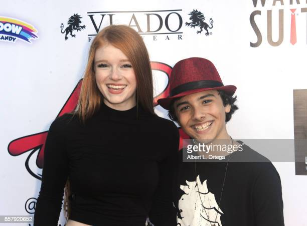 Actress Hannah McCloud and Actor Hunter Payton at his 13th Birthday Bash held at a private location on October 4 2017 in Simi Valley California