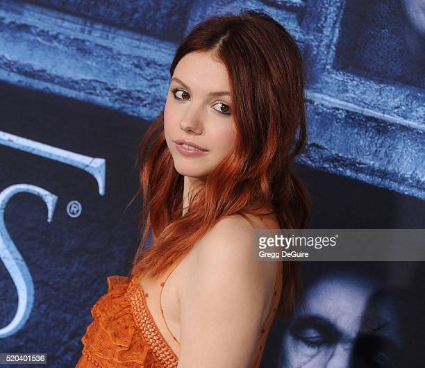 Actress Hannah Murray arrives at the premiere of HBO's Game Of Thrones Season 6 at TCL Chinese Theatre on April 10 2016 in Hollywood California