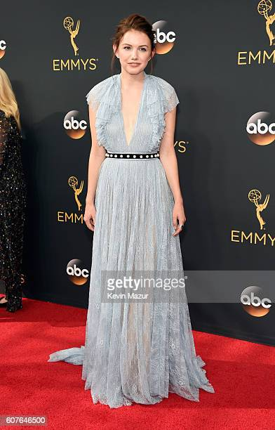 Actress Hannah Murray attends the 68th Annual Primetime Emmy Awards at Microsoft Theater on September 18, 2016 in Los Angeles, California.