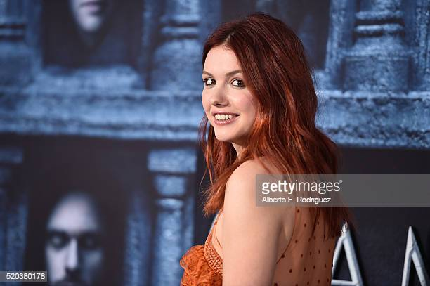 Actress Hannah Murray attends the premiere of HBO's 'Game Of Thrones' Season 6 at TCL Chinese Theatre on April 10 2016 in Hollywood California