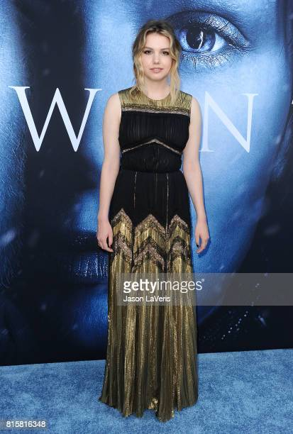 Actress Hannah Murray attends the season 7 premiere of Game Of Thrones at Walt Disney Concert Hall on July 12 2017 in Los Angeles California