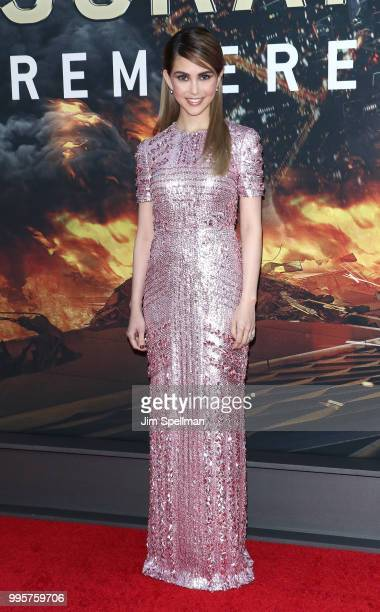Actress Hannah Quinlivan attends the 'Skyscraper' New York premiere at AMC Loews Lincoln Square on July 10 2018 in New York City
