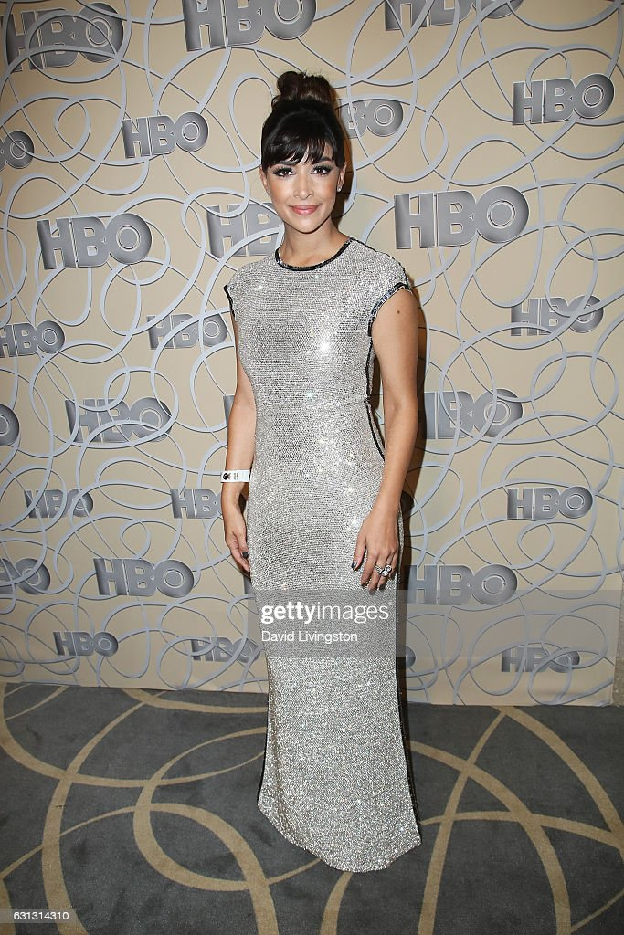 Actress Hannah Simone arrives at HBO's Official Golden Globe Awards after party at the Circa 55 Restaurant on January 8, 2017 in Los Angeles, California.