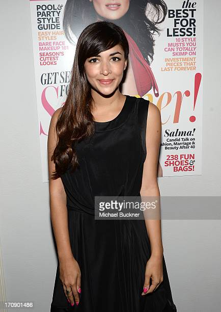 Actress Hannah Simone attends Mary-Kate Olsen, Ashley Olsen, and InStyle Editor Ariel Foxman celebrate the launch of the Elizabeth and James Fall...