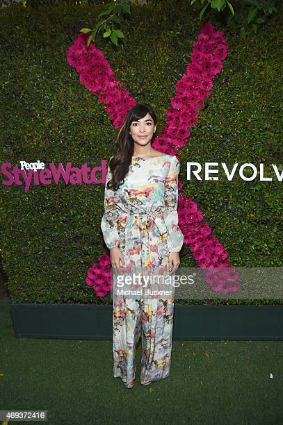 Actress Hannah Simone attends People StyleWatch REVOLVE Fashion and Festival Event at Avalon Palm Springs on April 11 2015 in Palm Springs California