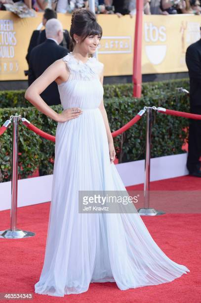 Actress Hannah Simone attends the 20th Annual Screen Actors Guild Awards at The Shrine Auditorium on January 18 2014 in Los Angeles California