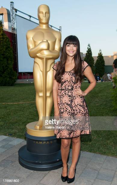 Actress Hannah Simone attends The Academy Of Motion Picture Arts And Sciences' Oscars Outdoors Screening Of Monsoon Wedding on August 10 2013 in...