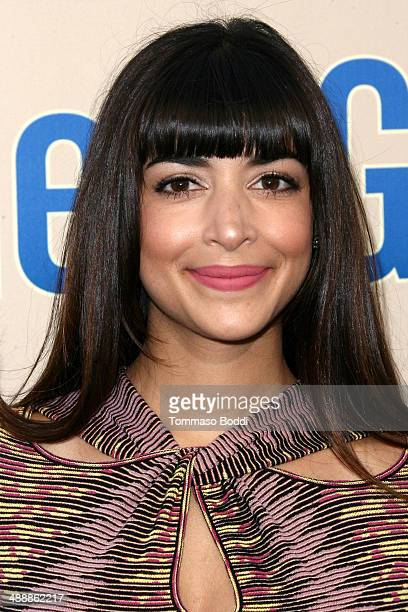 """Actress Hannah Simone attends the """"New Girl"""" Season 3 Finale screening and cast Q&A held at the Zanuck Theater at 20th Century Fox Lot on May 8, 2014..."""
