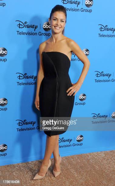 Actress Hannah Ware arrives at the 2013 Disney/ABC Television Critics Association's summer press tour party at The Beverly Hilton Hotel on August 4,...