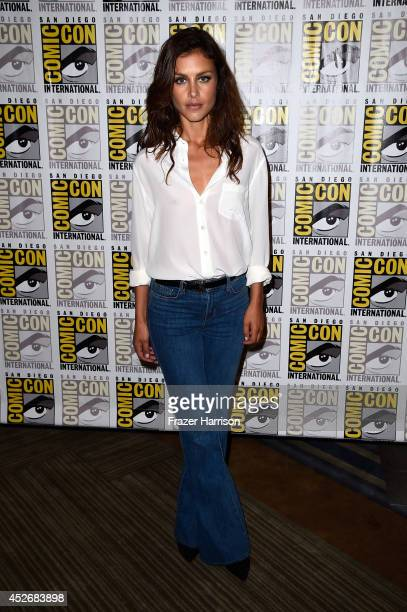 Actress Hannah Ware attends the 20th Century Fox press line during Comic-Con International 2014 at Hilton Bayfront on July 25, 2014 in San Diego,...