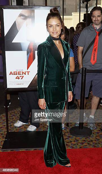 "Actress Hannah Ware attends the ""Hitman Agent 47"" New York premiere at AMC Empire 25 theater on August 13, 2015 in New York City."