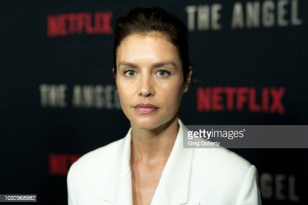 """Actress Hannah Ware attends the Screening Of Netflix's """"The Angel"""" at TCL Chinese 6 Theatres on September 13, 2018 in Hollywood, California."""