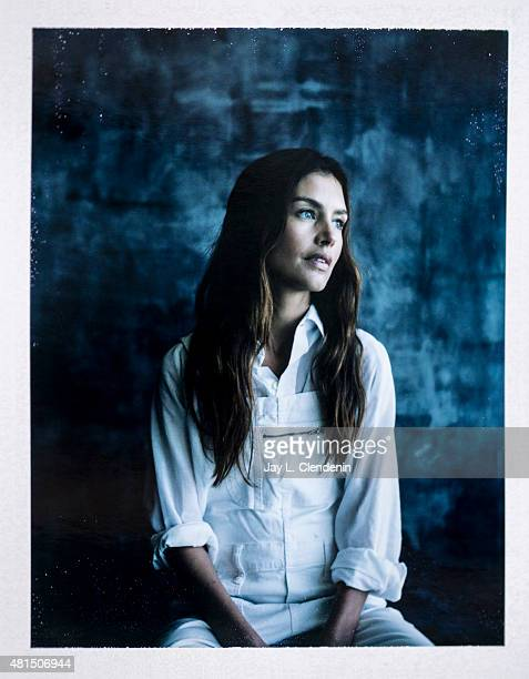 Actress Hannah Ware of 'Hitman: Agent 47' is photographed on polaroid film at Comic-Con International 2015 for Los Angeles Times on July 9, 2015 in...