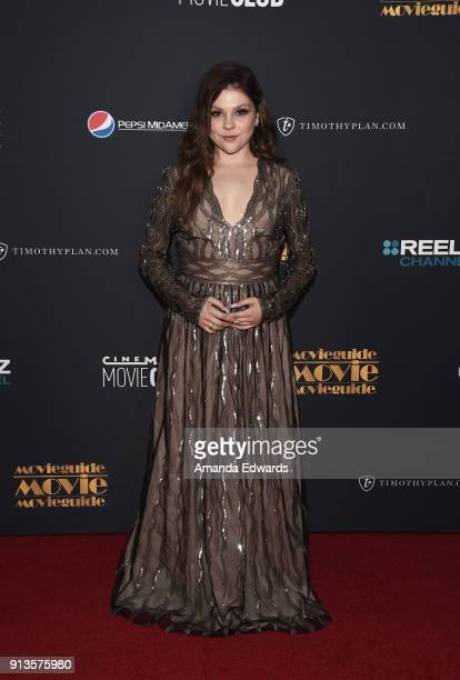 Actress Hannah Zeile arrives at the 26th Annual Movieguide Awards Faith And Family Gala at the Universal Hilton Hotel on February 2 2018 in Universal...