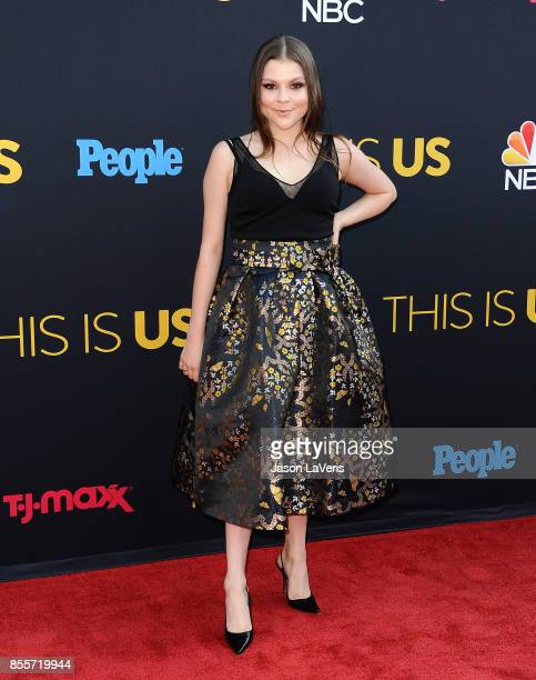 Actress Hannah Zeile attends the season 2 premiere of 'This Is Us' at NeueHouse Hollywood on September 26 2017 in Los Angeles California
