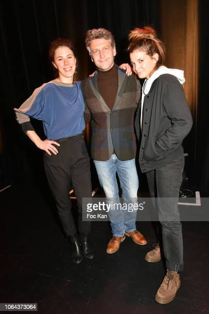 Actress Hanne Mathisen Haga, actor Frederic Gorny and actress Coline Beal attend the 'Poesie en Liberte' 20th Anniversary 2018 Awards at Auditorium...