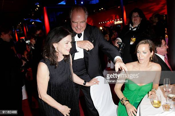 Actress Hannelore Elsner and actor Friedrich von Thun and daughter Gioia attend the after show party of the German TV Award 2009 at the Coloneum on...