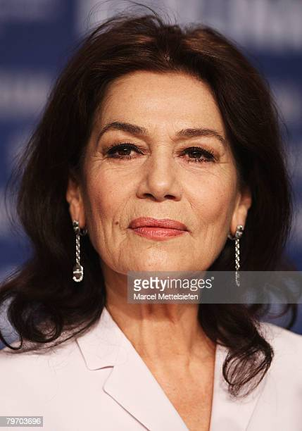 Actress Hannelore Elsner attend the 'Cherry Blossoms Hanami' Photocall and press conference as part of the 58th Berlinale Film Festival at the Grand...