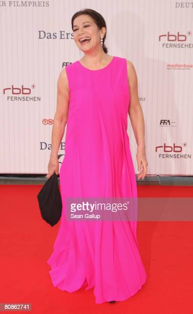 Actress Hannelore Elsner attends the German Film Award 2008 at the Palais am Funkturm on April 25 2008 in Berlin Germany