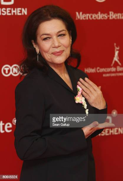 Actress Hannelore Elsner attends the reception for the nominees for the Deutscher Filmpreis at the Concorde Hotel on April 11 2008 in Berlin Germany