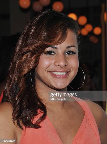 Actress Harmony Santana attends the after party for the the 2011 NewFest LGBT Film Festival closing night screening of Gun Hill Road at Cafe du...