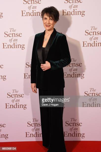 Actress Harriet Walter attends 'The Sense of an Ending' UK gala screening on April 6 2017 in London United Kingdom