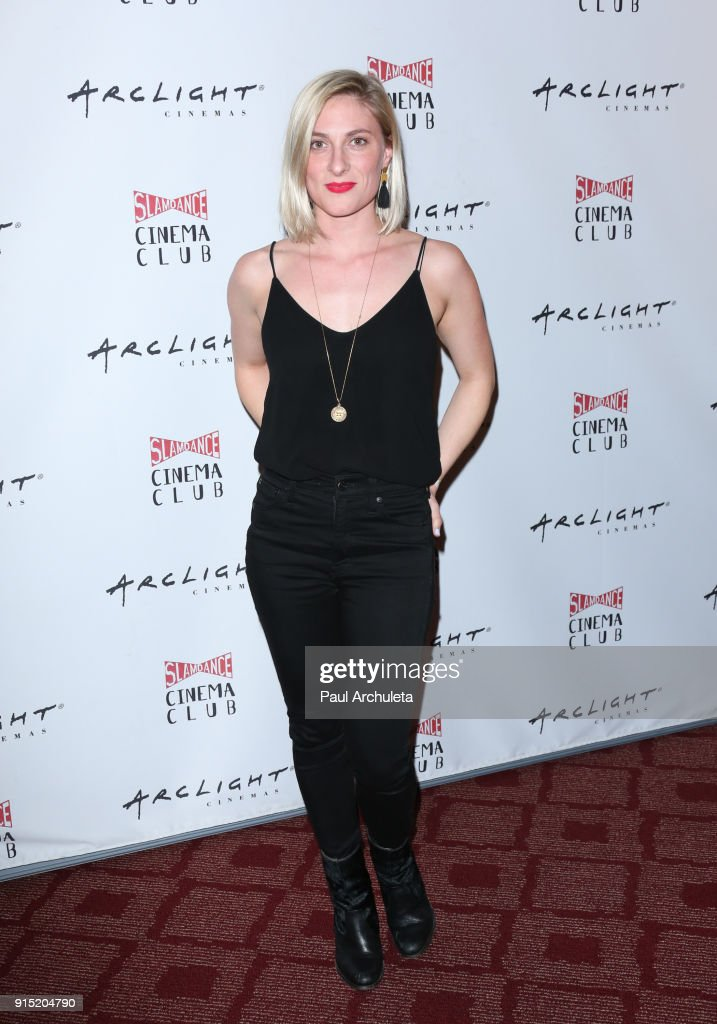 Actress Hartleigh Buwick attends the Slamdance Cinema Club screening of 'Bernard And Huey' at ArcLight Hollywood on February 6, 2018 in Hollywood, California.
