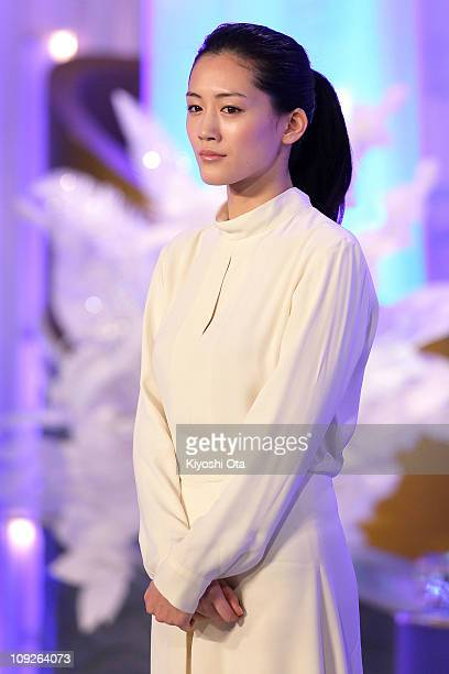 Actress Haruka Ayase attends the 34th Japan Academy Awards at Grand Prince Hotel New Takanawa on February 18 2011 in Tokyo Japan