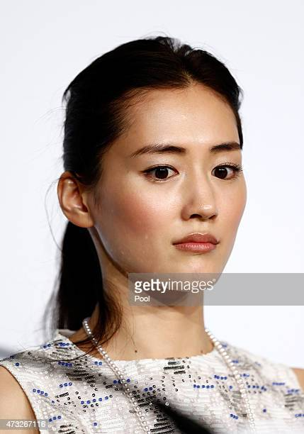 Actress Haruka Ayase attends the press conference for 'Umimachi Diary' during the 68th annual Cannes Film Festival on May 14 2015 in Cannes France