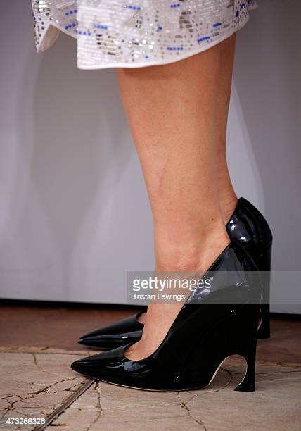 Actress Haruka Ayase shoe detail attend a photocall for 'Umimachi Diary' during the 68th annual Cannes Film Festival on May 14 2015 in Cannes France