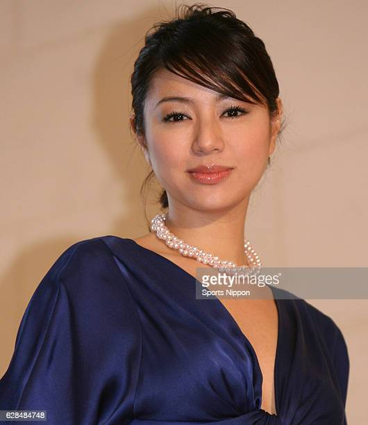 Actress Haruka Igawa attends opening ceremony of 'Grace Kelly exhibition' on December 11 2006 in Tokyo Japan