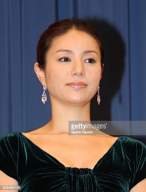 Actress Haruka Igawa attends preview screening of film 'Tokyo Sonata' on September 17 2008 in Tokyo Japan