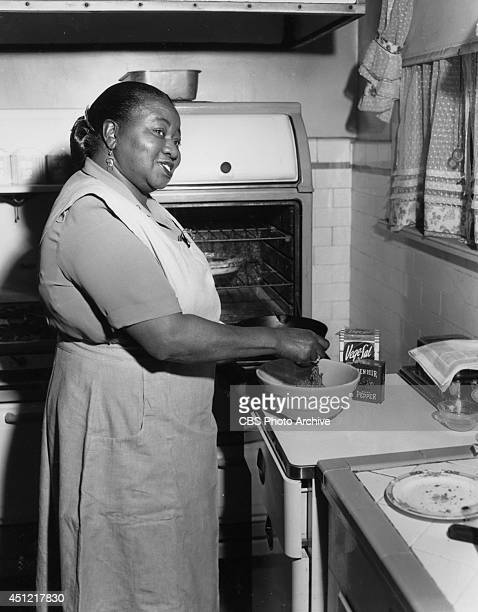 Actress Hattie McDaniel shown in character stars on the CBS television comedy series 'BEULAH' on January 28 in Los Angeles California