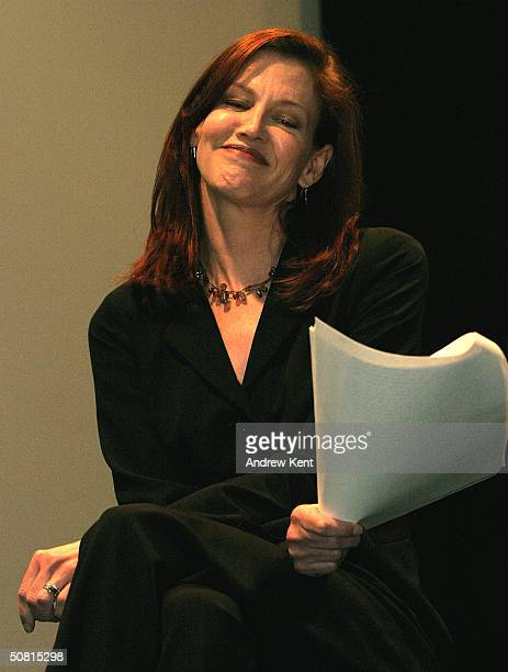 Actress Haviland Morris speaks at the Unraveling The Code Rosalind Franklin and DNA panel during the 2004 Tribeca Film Festival May 8 2004 in New...