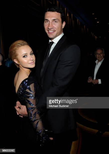 Actress Hayden Panettiere and boxer Wladimir Klitschko attends the Earth Day celebration and screening of Avatar benefitting the Partnership for Los...