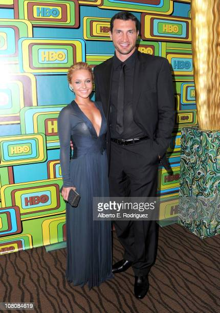 Actress Hayden Panettiere and heavyweight boxer Wladimir Klitschko attend HBO's Post 2011 Golden Globe Awards Party held at The Beverly Hilton hotel...