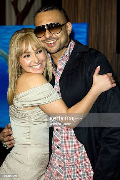 Actress Hayden Panettiere and musician Sean Paul attend The Whaleman Foundation Benefit at Beso on November 15 2009 in Hollywood California