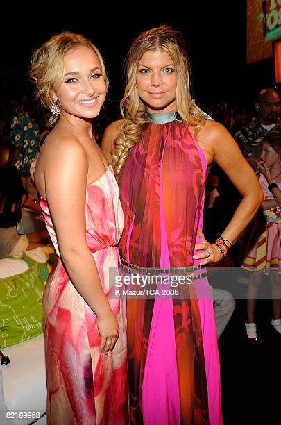 LOS ANGELES CA AUGUST 03 Actress Hayden Panettiere and singer Fergie during the 2008 Teen Choice Awards at Gibson Amphitheater on August 3 2008 in...