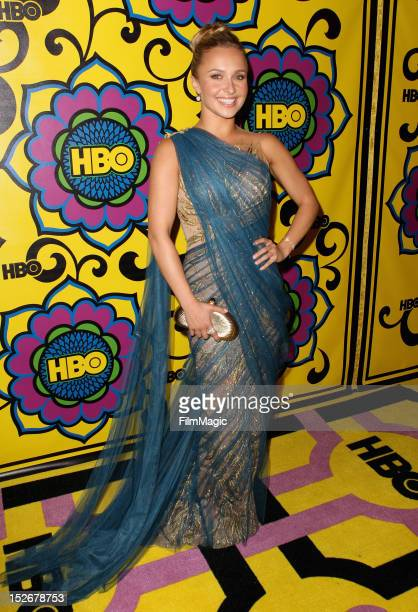 Actress Hayden Panettiere arrives at HBO's Official After Party at The Plaza at the Pacific Design Center on September 23 2012 in Los Angeles...
