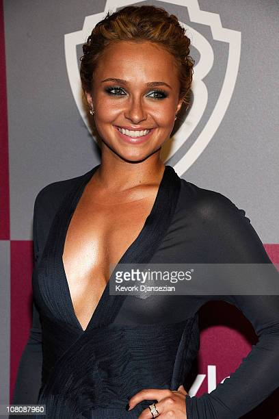 Actress Hayden Panettiere arrives at the 2011 InStyle And Warner Bros 68th Annual Golden Globe Awards postparty held at The Beverly Hilton hotel on...